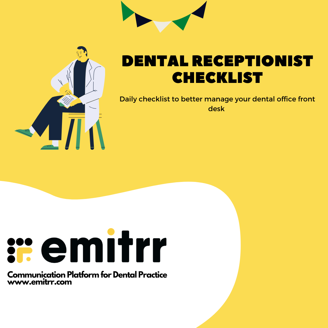Dental Receptionist Checklist